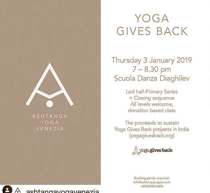 Start the new year with a good deed! Join Ashtanga Yoga Venezia Fundraiser in Support of YGB